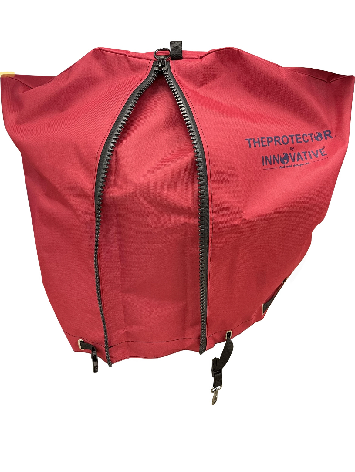 Picture of RED Backpack blower cover/ Expandable design.